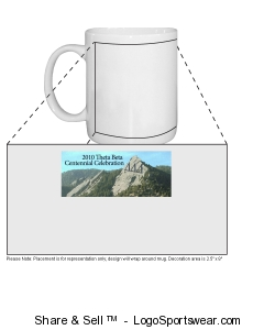 Custom Printed Mug - Wrap Around Design Zoom